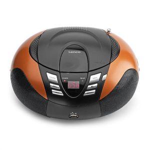 Radio réveil LENCO SCD-37 Orange Radio CD USB MP3