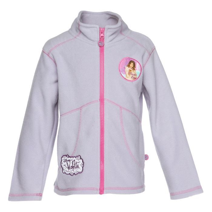 violetta veste sweat polaire zipp e enfant fille mauve achat vente sweatshirt cdiscount. Black Bedroom Furniture Sets. Home Design Ideas