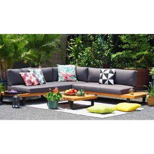 Salon bas de jardin ALUXE Salon de jardin en bois d'acacia et pieds en