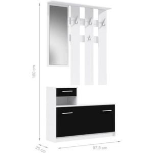 vestiaire mural achat vente vestiaire mural pas cher cdiscount. Black Bedroom Furniture Sets. Home Design Ideas
