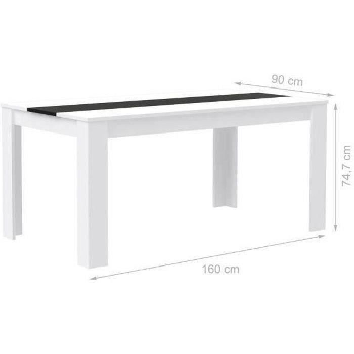 finlandek table manger el m de 6 8 personnes style contemporain en bois agglom r blanc et. Black Bedroom Furniture Sets. Home Design Ideas