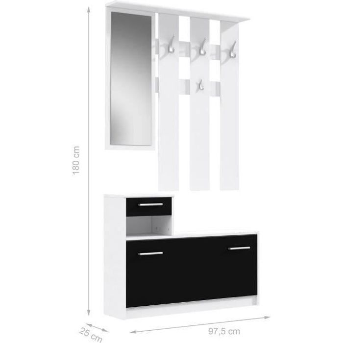 finlandek vestiaire d 39 entr e avec miroir peili scandinave. Black Bedroom Furniture Sets. Home Design Ideas