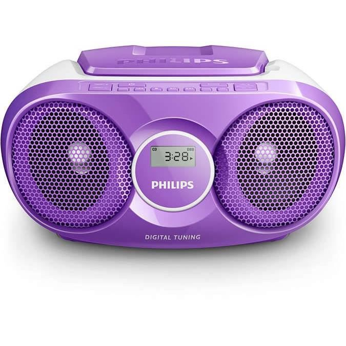 philips az215v poste radio lecteur cd violet radio cd cassette avis et prix pas cher. Black Bedroom Furniture Sets. Home Design Ideas