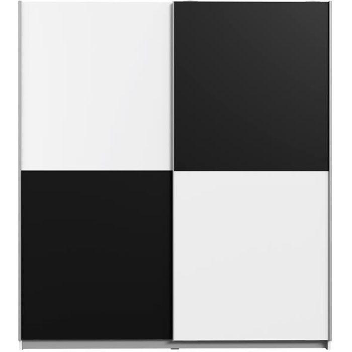 Ulos Armoire De Chambre Style Contemporain Blanc Et Noir L 170 3 Cm Achat Vente Armoire De Chambre Ulos Armoire 170 Cm Soldes Sur Cdiscount Des Le 20 Janvier Cdiscount