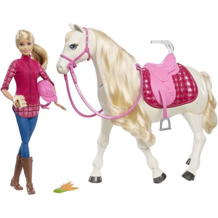 POUPÉE BARBIE Dreamhorse - Cheval de Rêve interactif et m