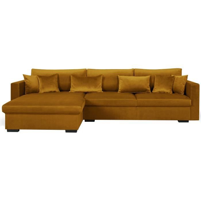 canap sofa divan malma canap dangle rversible 5 places velours - Canape En Velours
