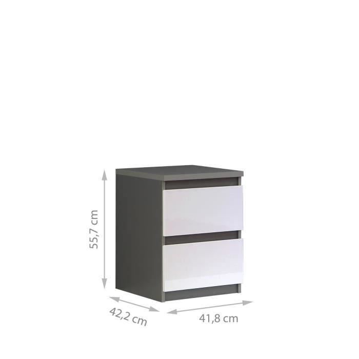 table de chevet achat vente table de chevet pas cher cdiscount. Black Bedroom Furniture Sets. Home Design Ideas