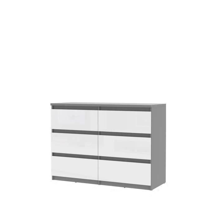 finlandek commode natti 110cm gris et blanc achat. Black Bedroom Furniture Sets. Home Design Ideas