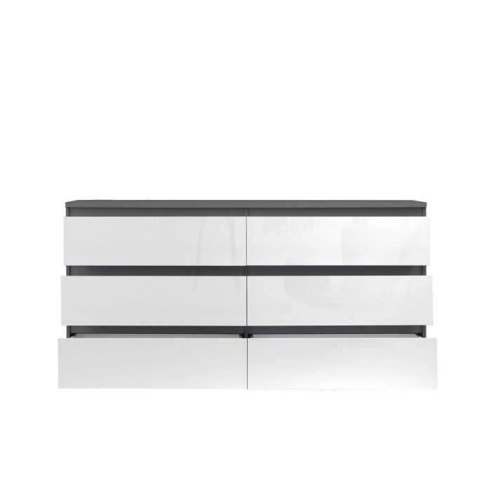 finlandek commode natti 154cm gris et blanc achat vente commode de chambre finlandek commode. Black Bedroom Furniture Sets. Home Design Ideas