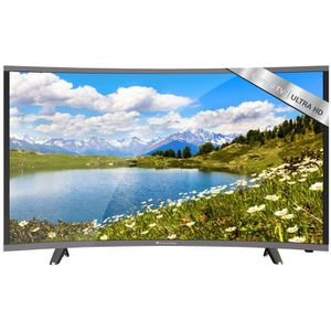 Téléviseur LED CONTINENTAL EDISON TV UHD 4K Curved 124.5cm(49'')