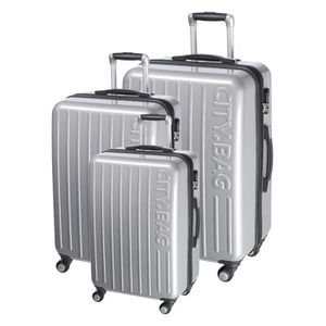 SET DE VALISES CITY BAG Set de 3 Valises 4 Roues 50-60-70 cm STAM