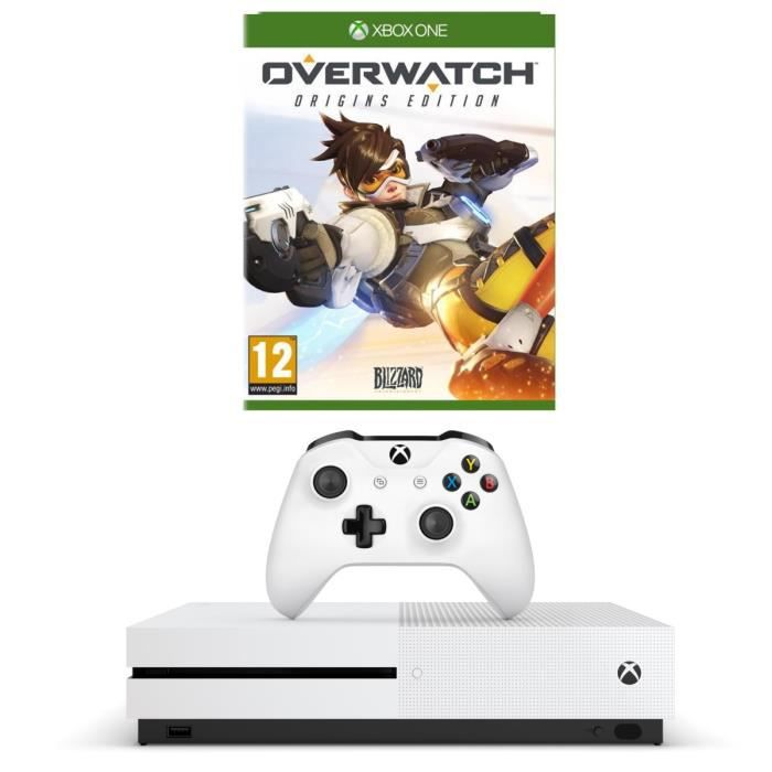 xbox one s 2to limited edition overwatch edition origins jeu xbox one achat vente console. Black Bedroom Furniture Sets. Home Design Ideas