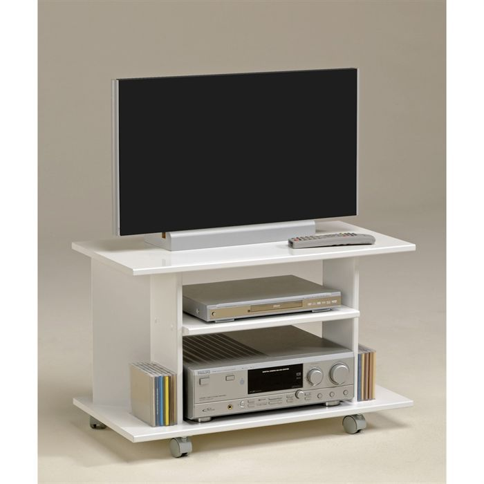 City meuble tv blanc meg ve achat vente meuble tv city for Meuble television blanc