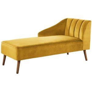 MÉRIDIENNE PAULINE Méridienne - Velours jaune - Vintage - L 1