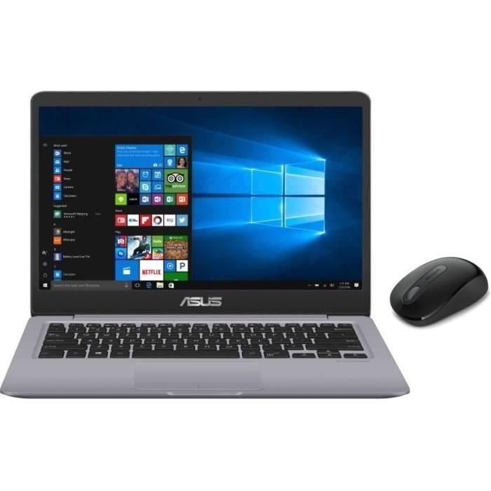 6b7785ed9aaa6f Pack Ordinateur Portable ASUS VivoBook S401UA-BV810T - 14 pouces - RAM 4Go  - Stockage 128Go SSD + Microsoft Wireless Mouse 900