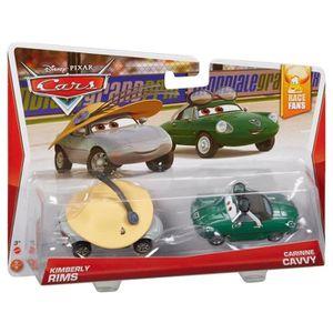 VOITURE - CAMION CARS Pack de 2 véhicules vert et jaune