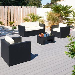 HAWAI Salon 4 places - Achat / Vente salon bas de jardin ...