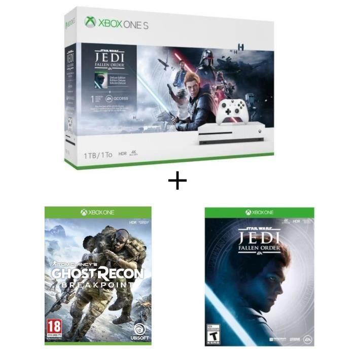 CONSOLE XBOX Xbox One S 1 To Star Wars Jedi : Fallen Order + 1