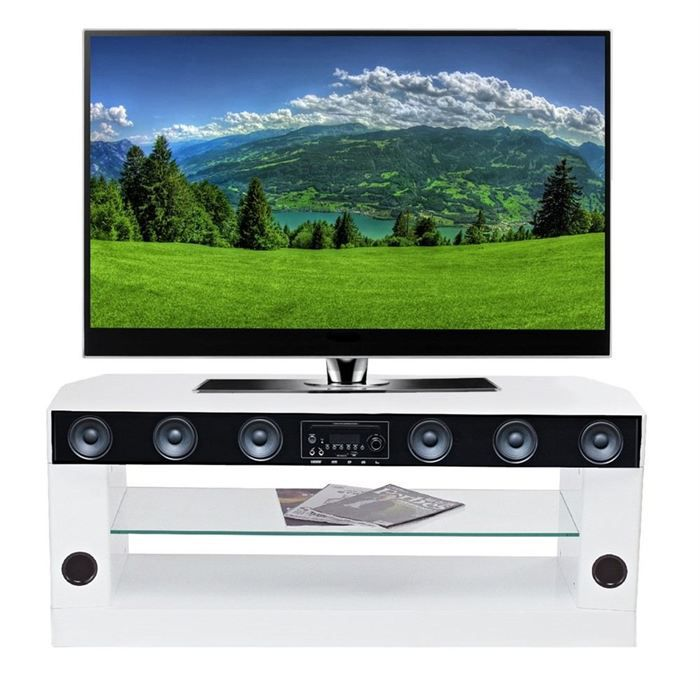 Sv8801whd meuble tv barre de son 75w meuble hifi - Meuble tv barre de son integree ...
