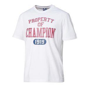 T-SHIRT CHAMPION T-shirt 1919 - Homme - Blanc
