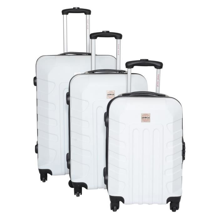 SET DE VALISES TRAVEL WORLD Set de 3 valises 4 roues  48/58/68