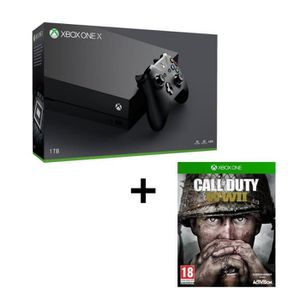 CONSOLE XBOX ONE Pack Xbox One X 1 To + Call of Duty WWII