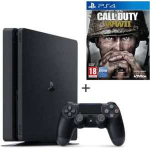 CONSOLE PS4 Nouvelle PS4 500 Go + Call of Duty World War II Je