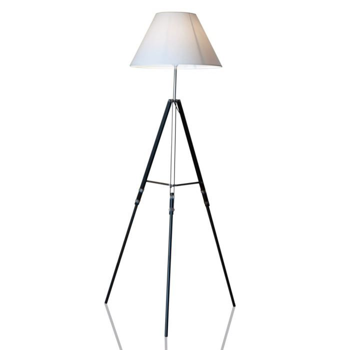 lampadaire sur pied tripod 145cm de hauteur achat. Black Bedroom Furniture Sets. Home Design Ideas