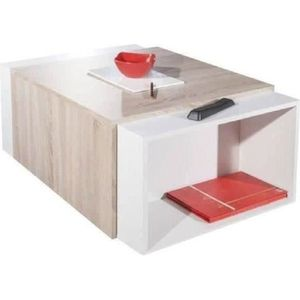 Meubles salon table basse transformable achat vente for Table basse chene clair pas cher