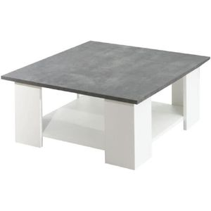 TABLE BASSE LIME Table basse style contemporain mélaminée blan
