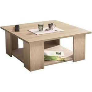 TABLE BASSE LIME Table basse carrée style contemporain mélamin