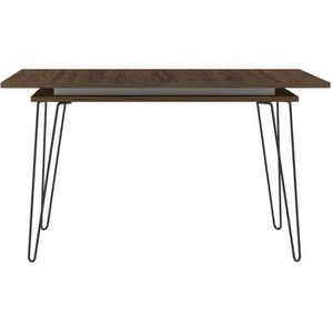 Table a manger bois et metal extensible achat vente for Table extensible 6 a 8 personnes blooma