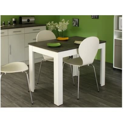 pepper table de cuisine 110x70cm blanche achat vente table de cuisine pepper table de
