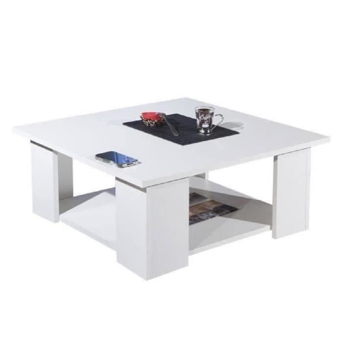Lime Table Basse Carr E 67x67cm Blanc Achat Vente Table Basse Lime Table Basse Carr E Blanc