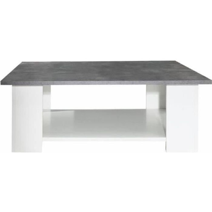 Lime table basse carr e style contemporain m lamin e blanc - Table basse ceramique design ...