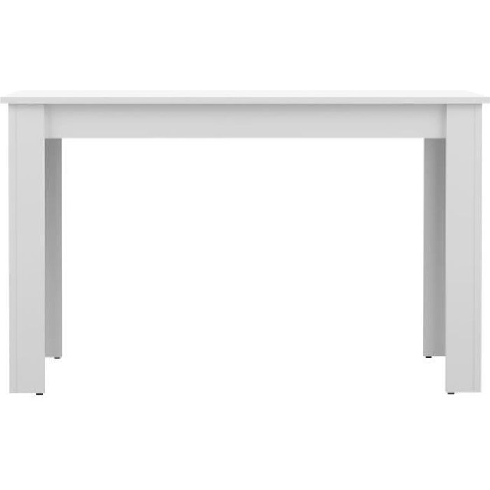 Pepper table manger blanc 110cm achat vente table de for Table a manger blanc