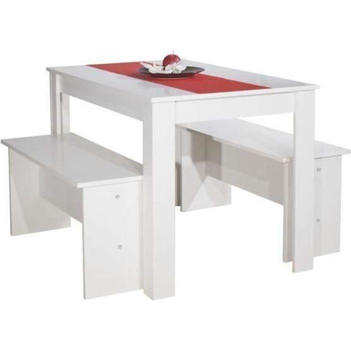 TABLE À MANGER COMPLÈTE SALT Ensemble table à manger de cuisine en bois de