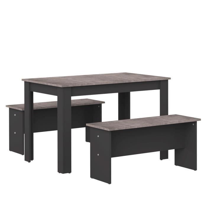 TABLE À MANGER COMPLÈTE SALT Ensemble Table à manger 4 à 6 personnes + 2 b