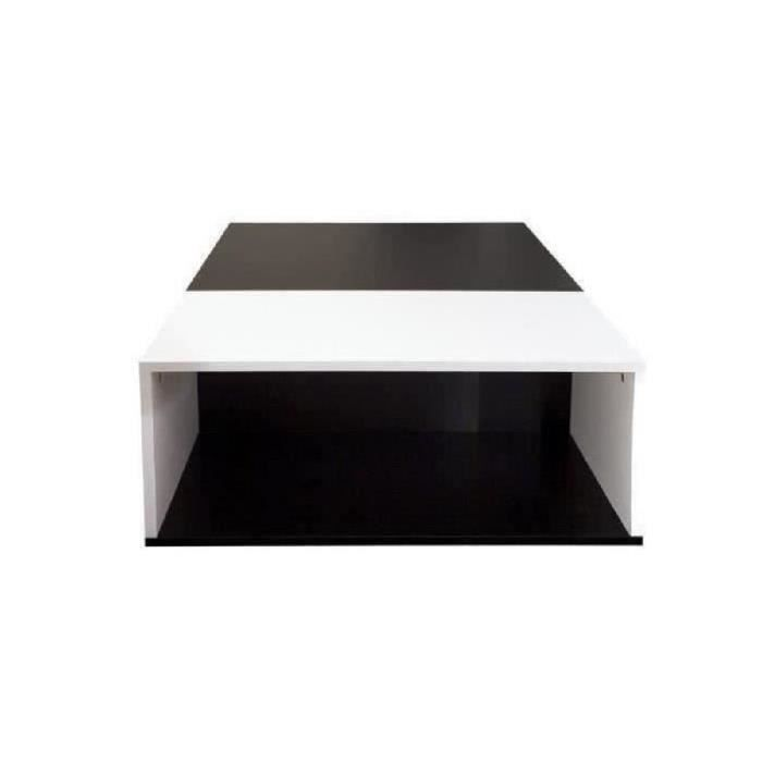 TABLE BASSE MEGA Table basse 89x67 cm noir et blanc