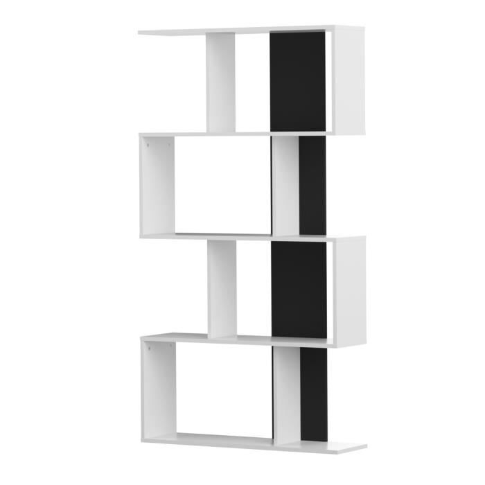 cherry etag re biblioth que blanc 89 x 28 x 164 cm achat vente meuble tag re cherry. Black Bedroom Furniture Sets. Home Design Ideas