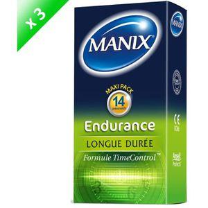 PRÉSERVATIF MANIX Endurance Lot de 3 boites 14 préservatifs