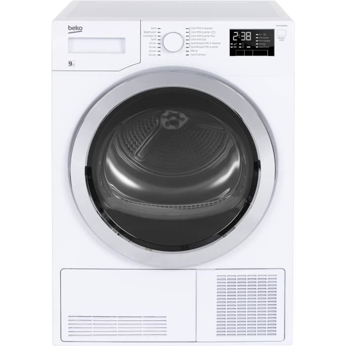 beko dh9433rx0w s che linge 9kg pompe chaleur classe. Black Bedroom Furniture Sets. Home Design Ideas