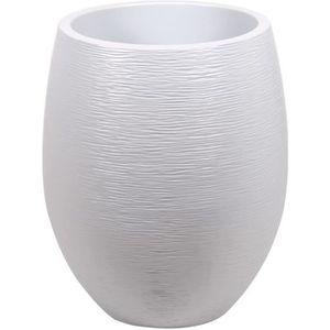 JARDINIÈRE - BAC A FLEUR EDA Pot rond Graphit Ø50cm - Contenance 53L - Blan