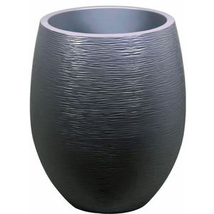 JARDINIÈRE - BAC A FLEUR EDA Pot rond Graphit Ø50cm - Contenance 53L - Gris