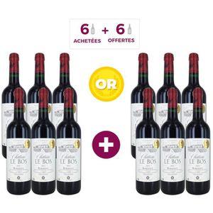 VIN ROUGE 6 bouteilles achetées = 6 offertes CHÂTEAU LE BOS