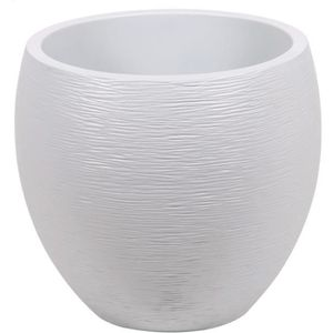 JARDINIÈRE - BAC A FLEUR EDA plastiques Pot egg rond Graphit Ø50cm - Conten