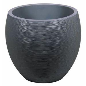 JARDINIÈRE - BAC A FLEUR EDA Pot rond Graphit Ø50cm - Contenance 46L - Gris
