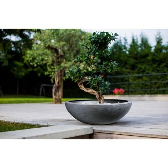 EDA Pot vasque Graphit Ø 59 cm - 39 L - Gris anthracite