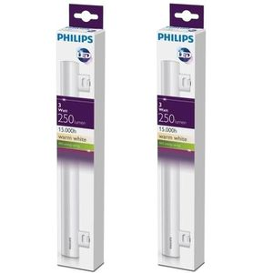AMPOULE - LED PHILIPS Lot de 2 tubes LED Philinea S14S 3 W équiv