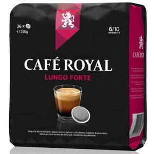 CAFÉ 36 dosettes Café Royal  Lungo Forte  compatibles S